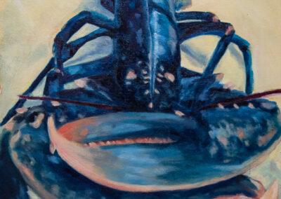 Lobster on loose canvas